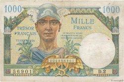 1000 Francs TRÉSOR FRANÇAIS FRANCE  1947 VF.33.01 TB