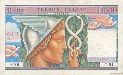 1000 Francs TRÉSOR PUBLIC FRANCE  1955 VF.35.01 pr.TTB