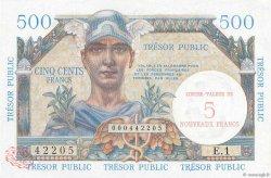 5NF sur 500 Francs TRÉSOR PUBLIC FRANCE  1960 VF.37.01 pr.NEUF