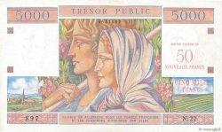 50NF sur 5000 Francs TRÉSOR PUBLIC FRANCE  1960 VF.39.01