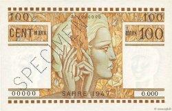 100 Mark SARRE FRANCE  1947 VF.49.02 pr.NEUF
