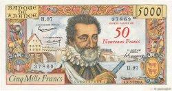 50 NF sur 5000 Francs HENRI IV FRANCE  1959 F.54.02 TTB