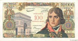 100 NF sur 10000 Francs BONAPARTE FRANCE  1958 F.55.01 TTB