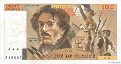 100 Francs DELACROIX FRANCE  1978 F.68.02 VF