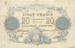 20 Francs type 1871 FRANCE  1873 F.A46.04 pr.TTB