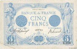 5 Francs BLEU FRANCE  1873 F.02.03 TTB