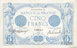 5 Francs BLEU FRANCE  1916 F.02.44 SUP+