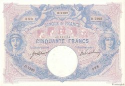 50 Francs BLEU ET ROSE  FRANCE  1917 F.14.30