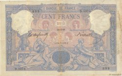 100 Francs BLEU ET ROSE  FRANCE  1891 F.21.04