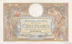 100 Francs LUC OLIVIER MERSON type modifié FRANCE  1939 F.25.49 SPL