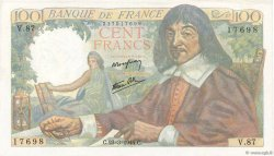 100 Francs DESCARTES  FRANCE  1944 F.27.05