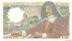 100 Francs DESCARTES  FRANCE  1944 F.27.06
