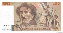 100 Francs DELACROIX 442-1 & 442-2 FRANCE  1995 F.69ter.02d pr.NEUF