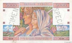 5000 Francs TRÉSOR PUBLIC FRANCE  1955 VF.36.02 SUP