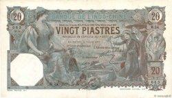 20 Piastres INDOCHINE FRANÇAISE  1917 P.017b TTB