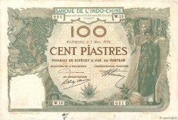100 Piastres INDOCHINE FRANÇAISE  1914 P.018 TTB
