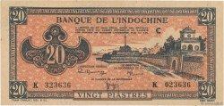 20 Piastres rose INDOCHINE FRANÇAISE  1945 P.072 SUP+