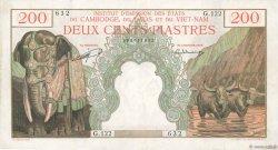 200 Piastres Cambodge INDOCHINE FRANÇAISE  1953 P.098 pr.SUP