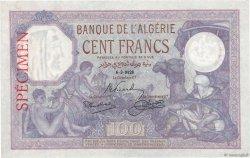 100 Francs type 1920 ALGÉRIE  1928 P.081s SUP+