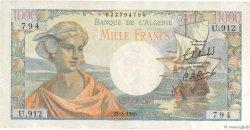 1000 Francs type 1945 ALGÉRIE  1945 P.096 SPL