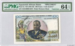 100 Francs EQUATORIAL AFRICAN STATES (FRENCH)  1961 P.02s aUNC
