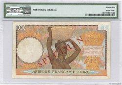 100 Francs AFRIQUE ÉQUATORIALE FRANÇAISE Brazzaville 1941 P.08s aVF