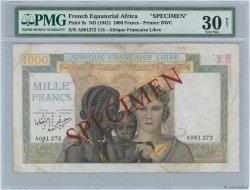 1000 Francs AFRIQUE ÉQUATORIALE FRANÇAISE Brazzaville 1941 P.09s pr.TTB