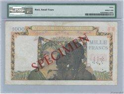 1000 Francs AFRIQUE ÉQUATORIALE FRANÇAISE Brazzaville 1941 P.09s aVF