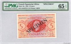 5 Francs AFRIQUE ÉQUATORIALE FRANÇAISE  1944 P.15as NEUF