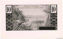 10 Francs Colbert FRENCH EQUATORIAL AFRICA  1947 P.21p.var UNC