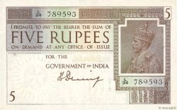 5 Rupees  INDE  1920 P.004a SUP+