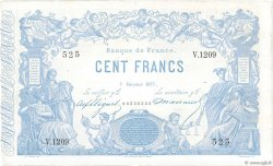 100 Francs type 1862 Indices Noirs FRANCE  1877 F.A39.13 aVF