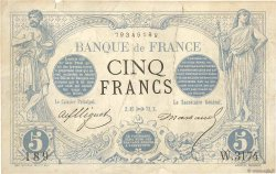 5 Francs NOIR FRANCE  1873 F.01.23 aVF