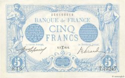 5 Francs BLEU FRANCE  1916 F.02.36 SUP+
