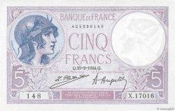 5 Francs VIOLET FRANCE  1924 F.03.08 AU