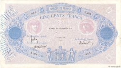 500 Francs BLEU ET ROSE  FRANCE  1912 F.30.20