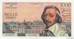 1000 Francs RICHELIEU  FRANCE  1954 F.42.05