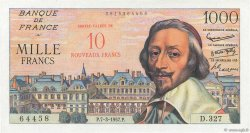 10 NF sur 1000 Francs RICHELIEU  FRANCE  1957 F.53.01