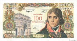 100 NF sur 10000 Francs BONAPARTE  FRANCE  1958 F.55.01
