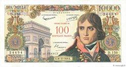 100 NF sur 10000 Francs BONAPARTE FRANCE  1958 F.55.01 pr.SUP