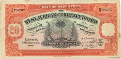 20 Shillings BRITISH WEST AFRICA  1934 P.08a F-