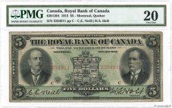 5 Dollars CANADA  1913 PS.1378a pr.TB
