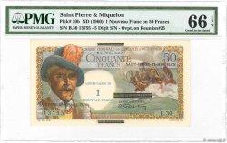 1 NF sur 50 Francs Belain dEsnambuc SAINT PIERRE ET MIQUELON  1960 P.30b NEUF