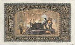 1000 Francs SUISSE  1939 P.37e aXF