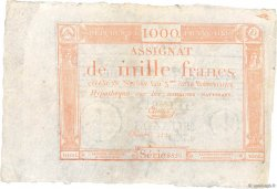 1000 Francs FRANCE  1795 Ass.50a SUP