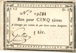 5 Livres FRANCE  1793 Kol.134 SPL