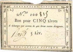 5 Livres FRANCE  1793 Kol.134 TTB