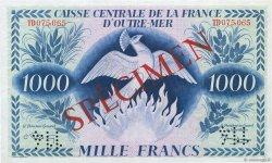 1000 Francs AFRIQUE ÉQUATORIALE FRANÇAISE  1944 P.19s2 SUP+