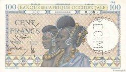 100 Francs AFRIQUE OCCIDENTALE FRANÇAISE (1895-1958)  1936 P.023s SUP+