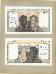 1000 Francs FRENCH WEST AFRICA  1936 P.24p UNC